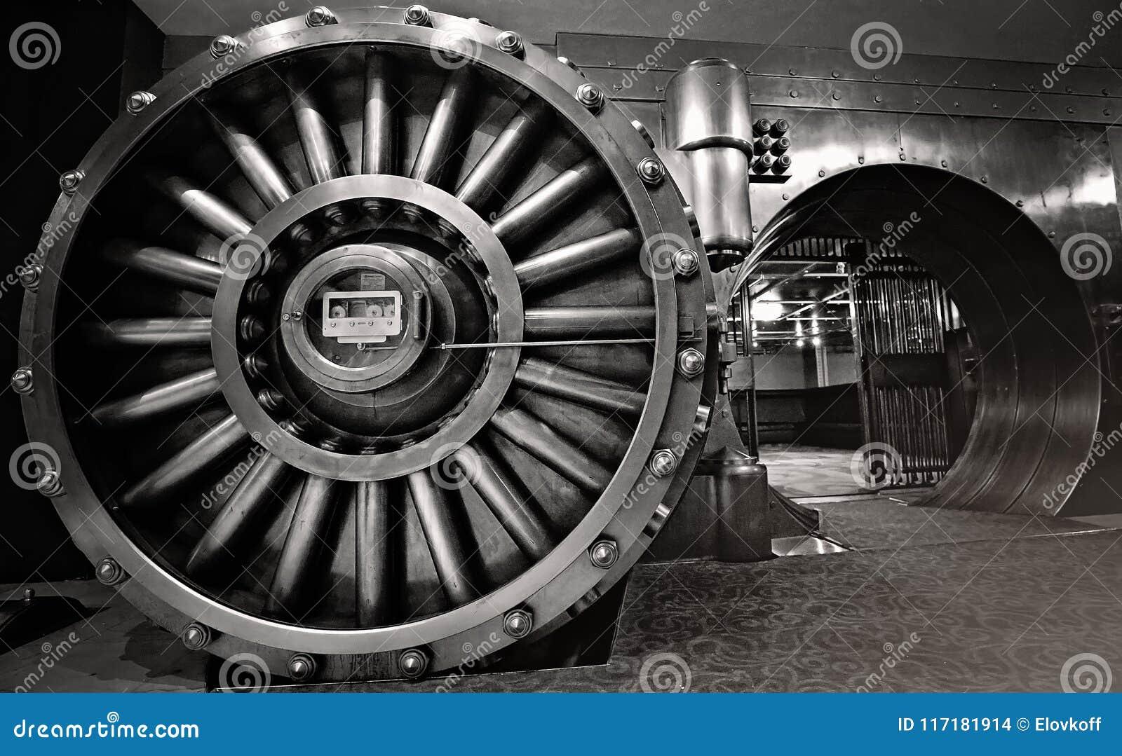La cámara acorazada, espacio de la cámara acorazada de banco