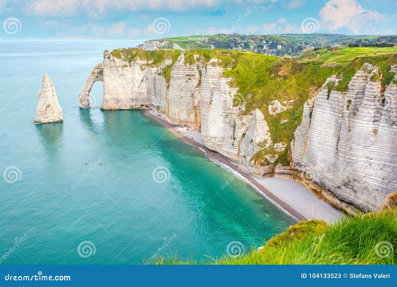 La côte d albâtre d Etretat, Normandie, France