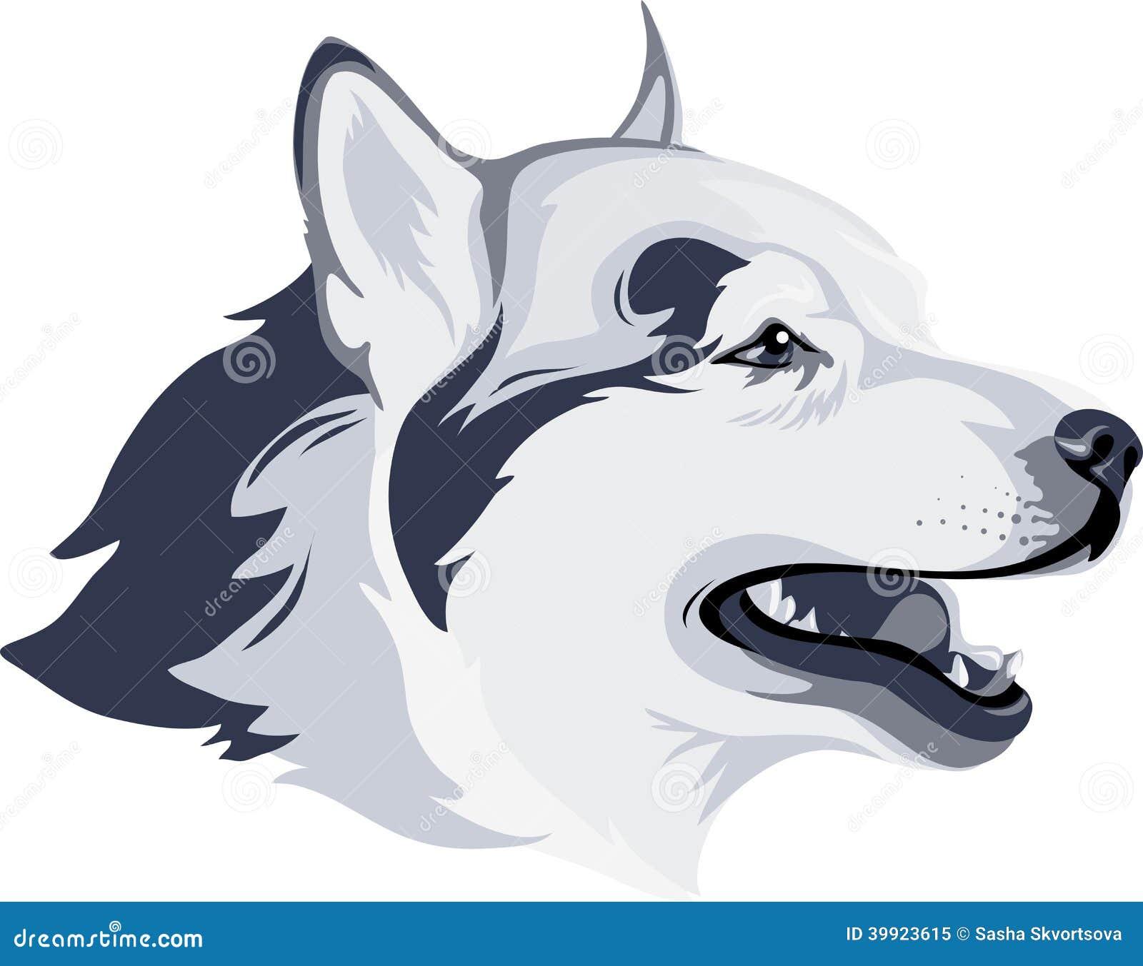La Cabeza De Perro Ilustración Del Vector Ilustración De Lobo