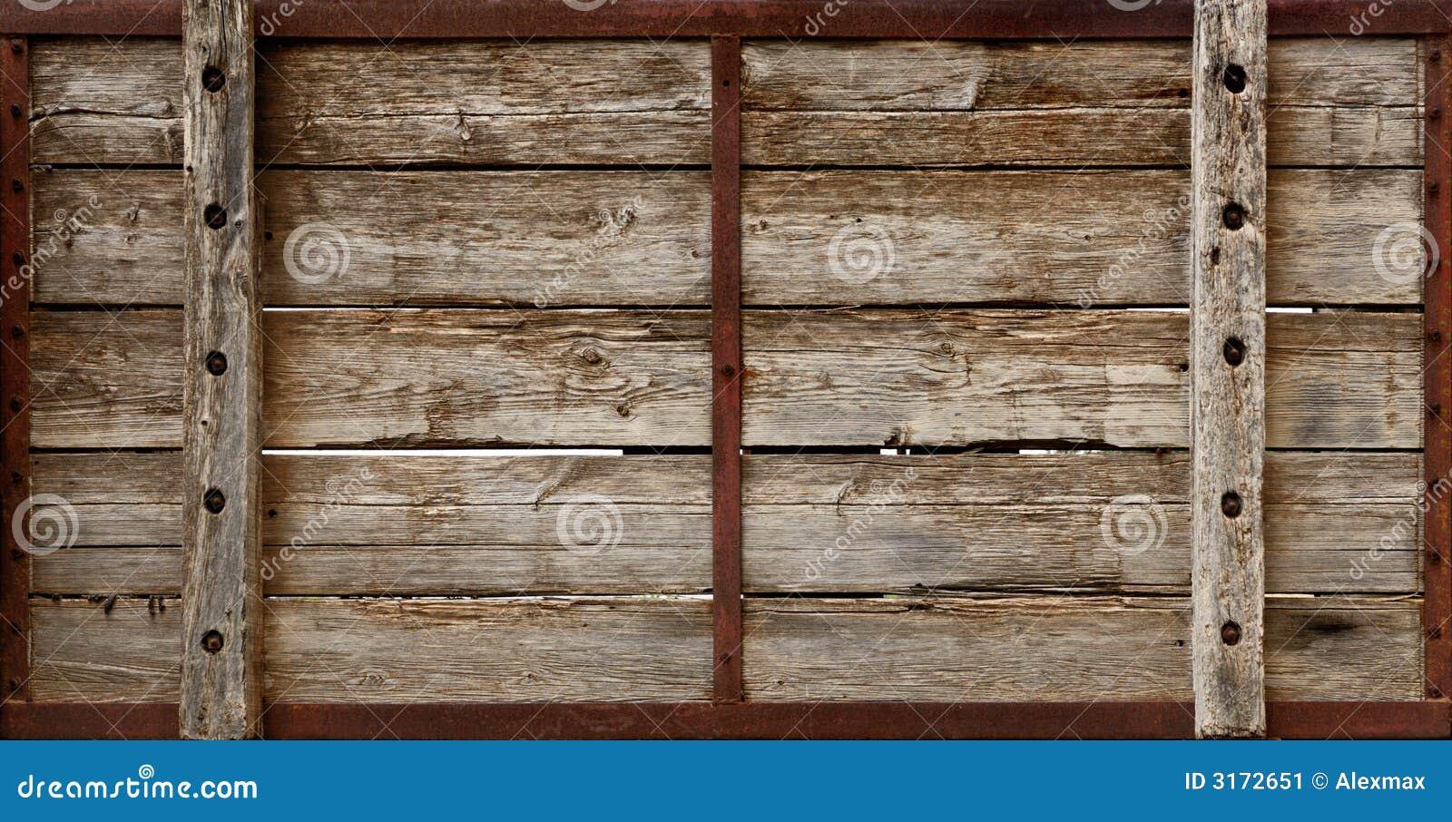 La caisse en bois embarque la texture