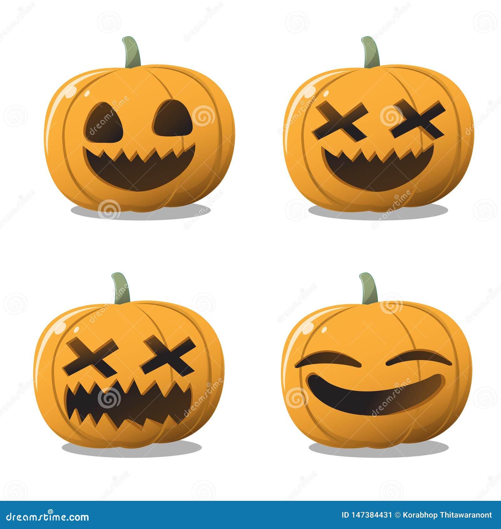 La calabaza Halloween fijó la diversión y lindo