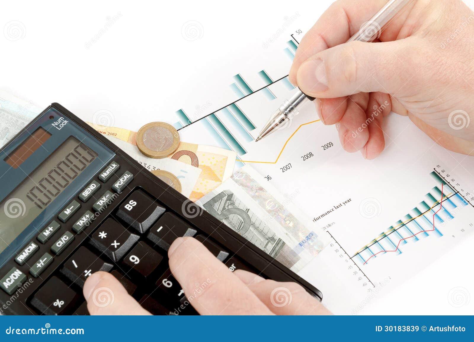 Calculatrice Diagrammes Stylo A Disposition Cartes De Visite Professionnelle Argent