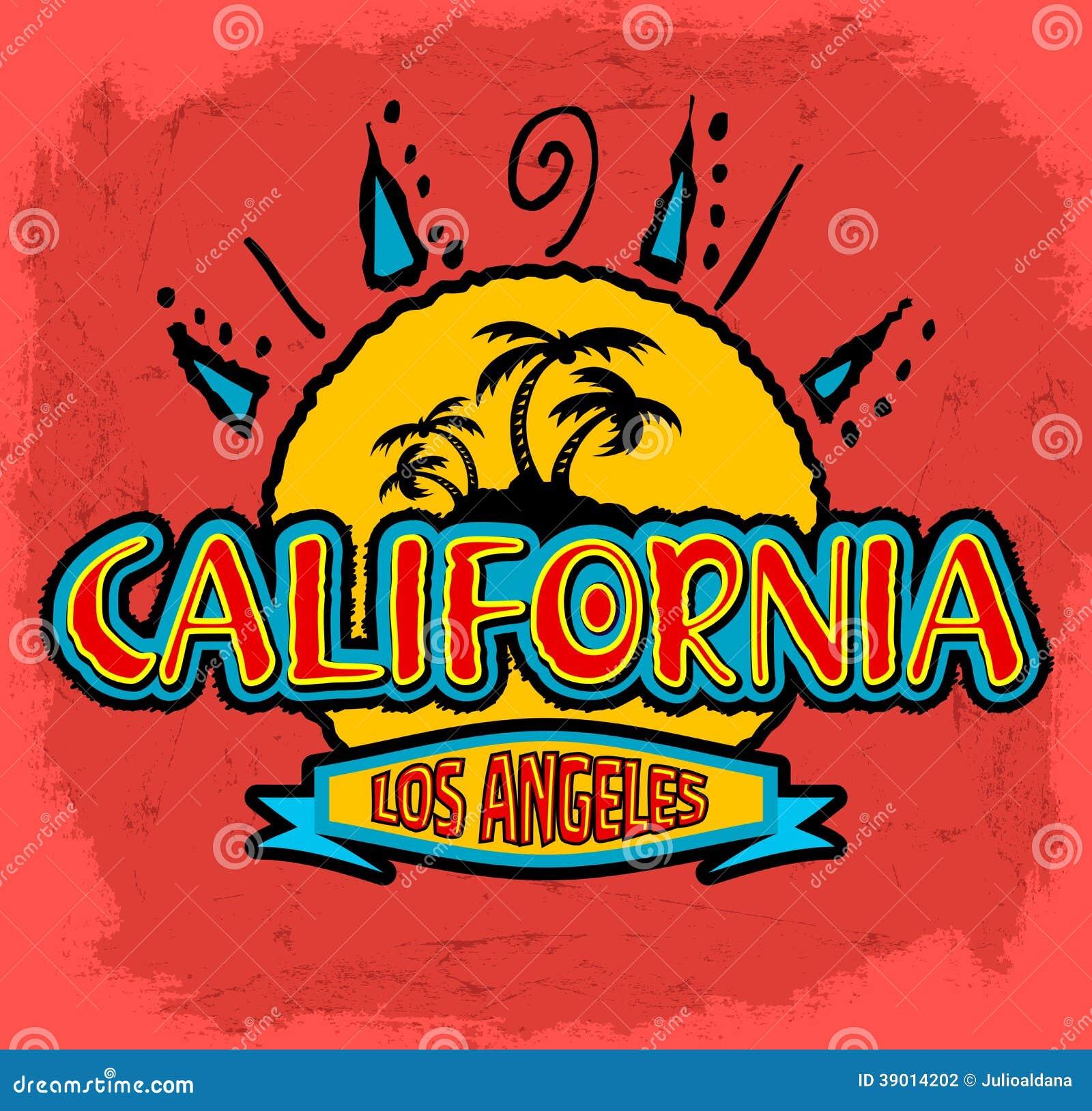 La Californie - Los Angeles - insigne de vecteur - emblème