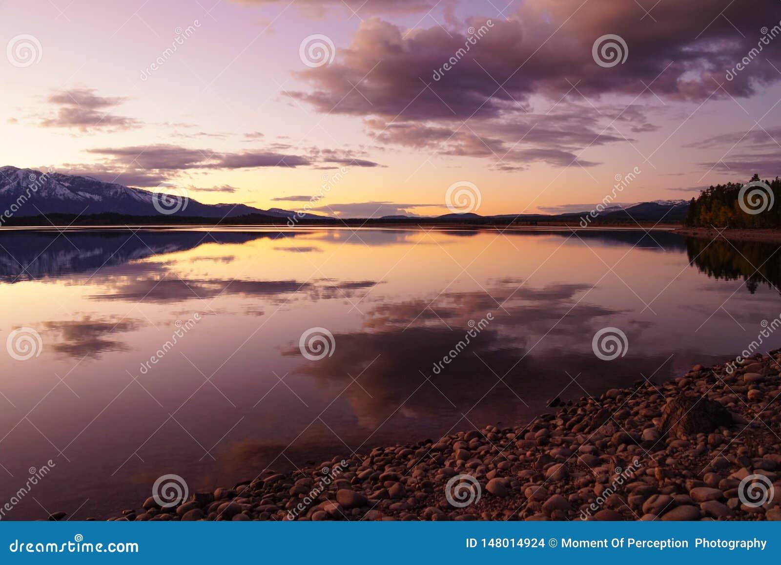 La calma del tramonto nel Tetons