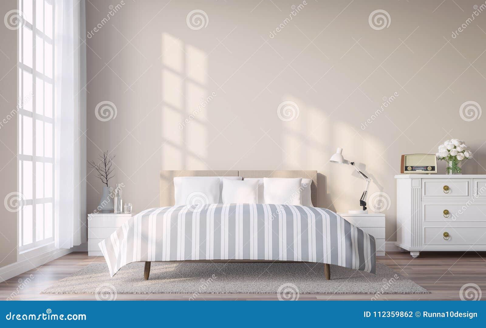 Pavimenti Camere Da Letto Moderne la camera da letto d'annata moderna con la parete marrone