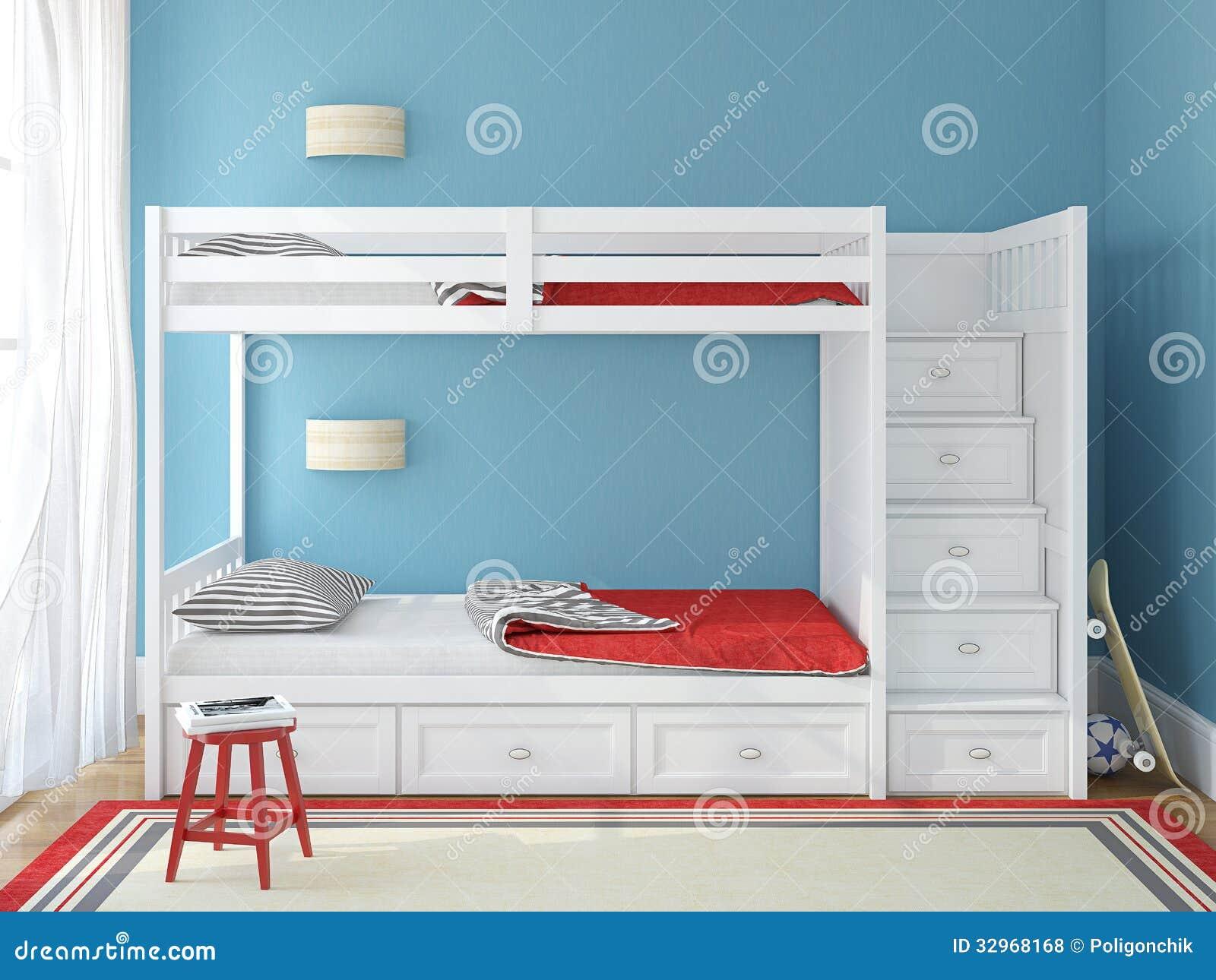 La camera da letto dei bambini illustrazione di stock - Camera da letto bambini ...