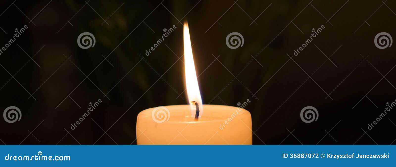 Download La candela. fotografia stock. Immagine di illumini, incandescenza - 36887072