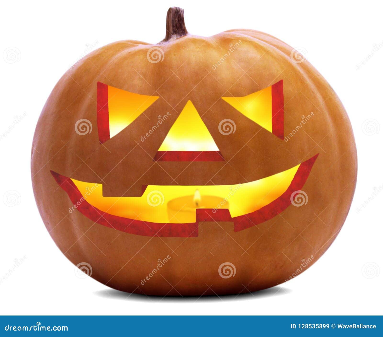 La cara asustadiza de la calabaza de Halloween se aísla sobre el fondo blanco y transparente y x28; file& opcional x29 del png;