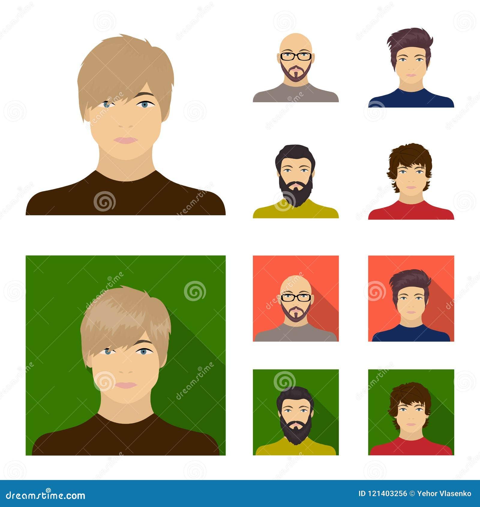 La cara de un hombre calvo con los vidrios y una barba, hombre barbudo, el aspecto de un individuo con un peinado Cara y