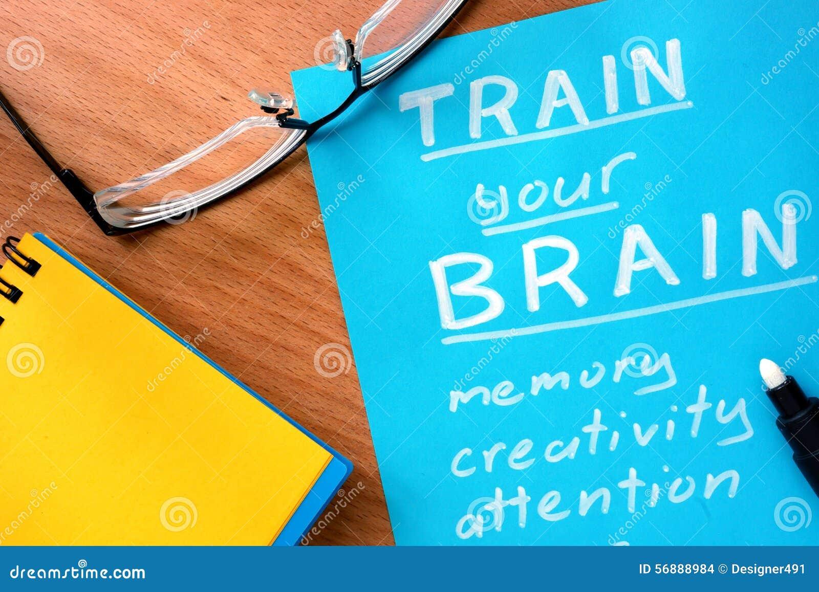La carta blu con le parole prepara il vostro cervello