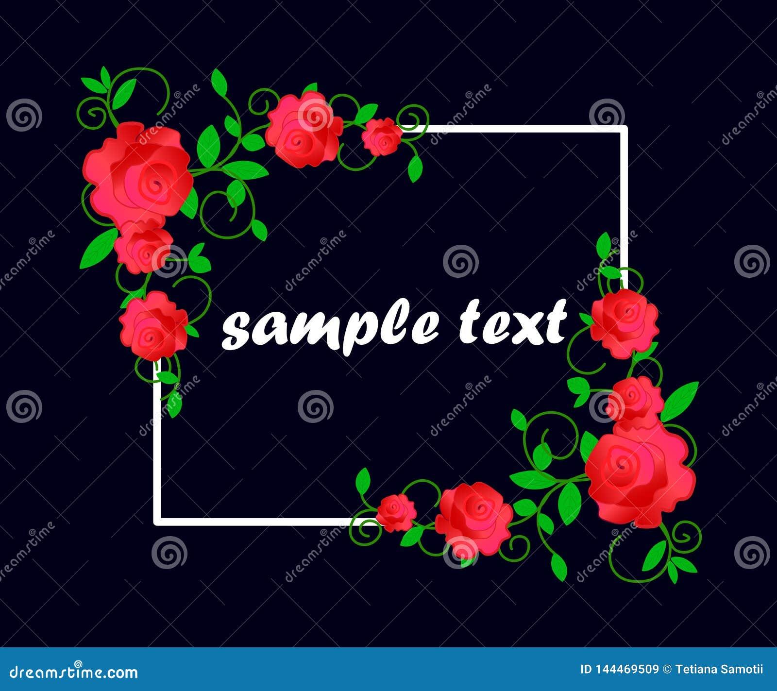 La carta con i fiori, acquerello, pu? essere usata come carta dell invito per nozze, compleanno e l altri festa e backgrou dell e