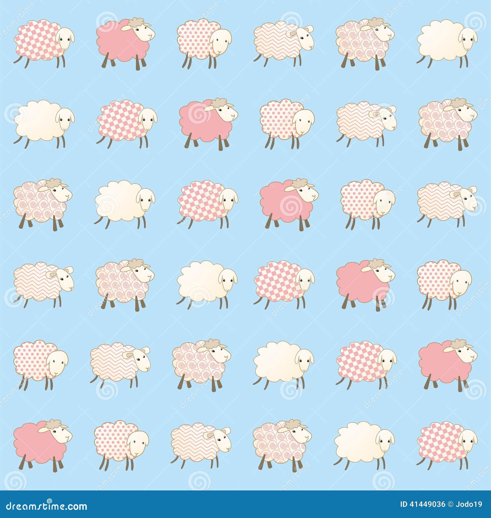 La carta da parati dei bambini con le pecore illustrazione for Carta da parati bambini