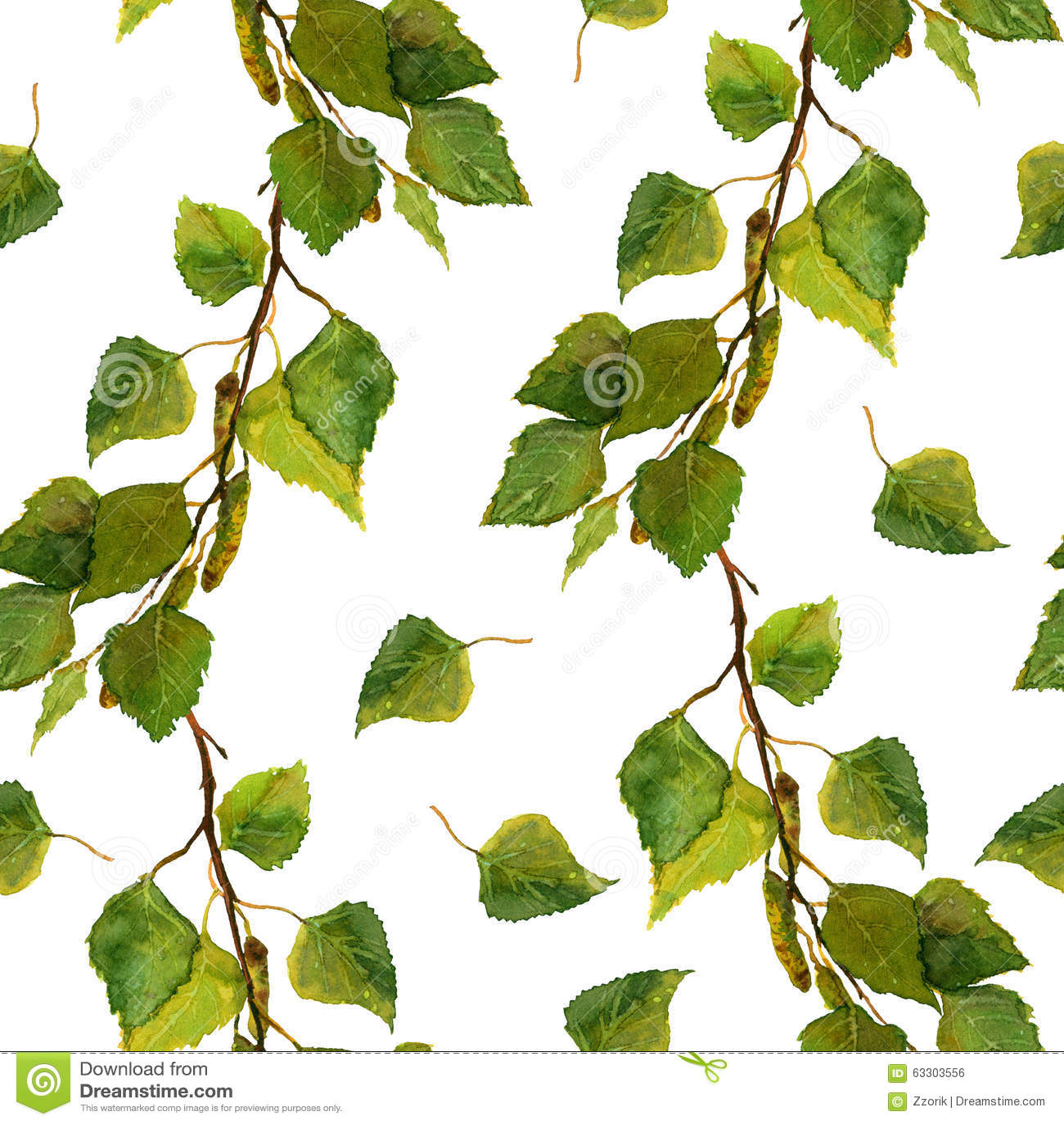 la carta da parati senza cuciture bianca con le foglie verdi della ... - Carta Da Parati Bianca Da Dipingere