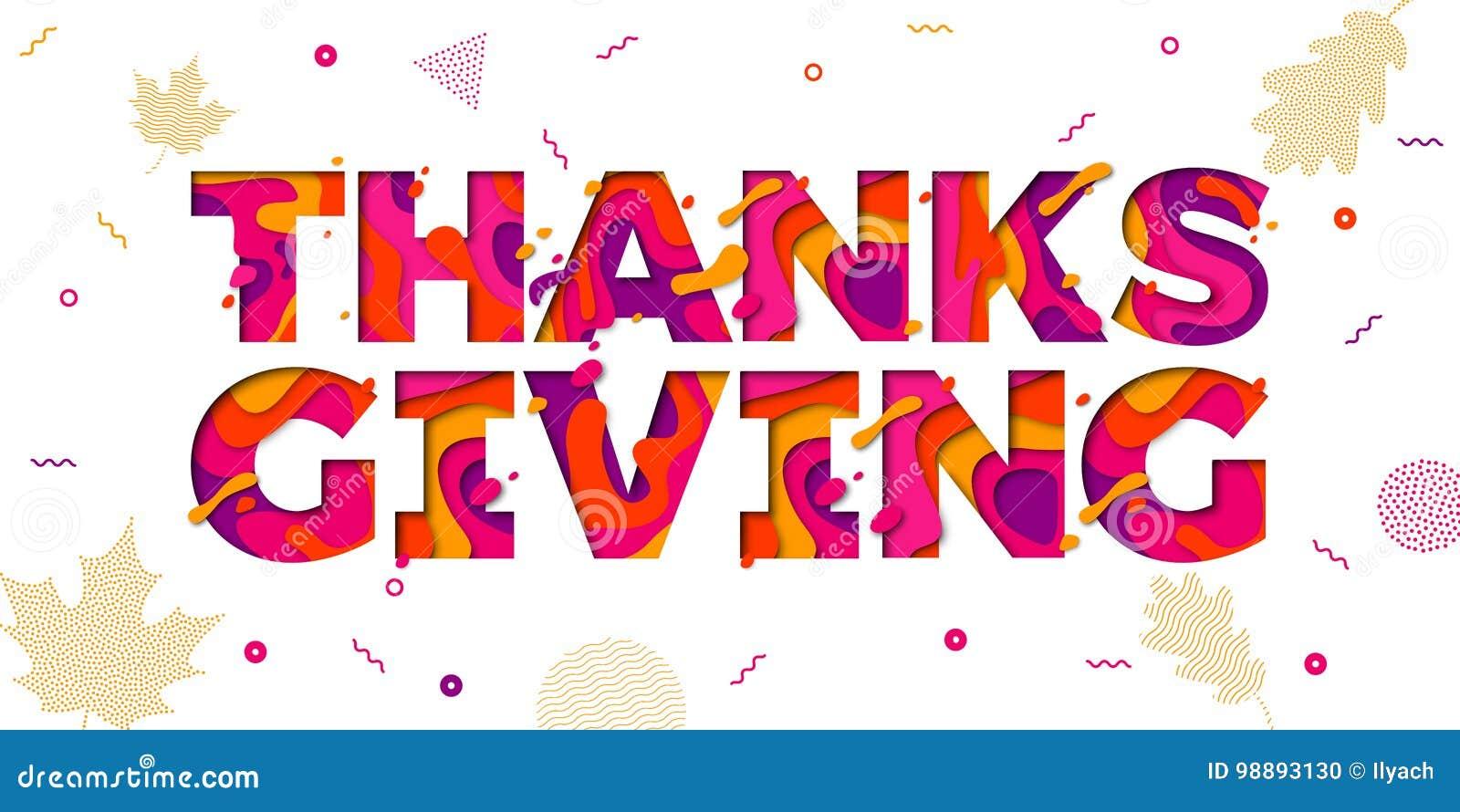 La carta di ringraziamento ha tagliato il vettore della - Ringraziamento tacchino al colore ...