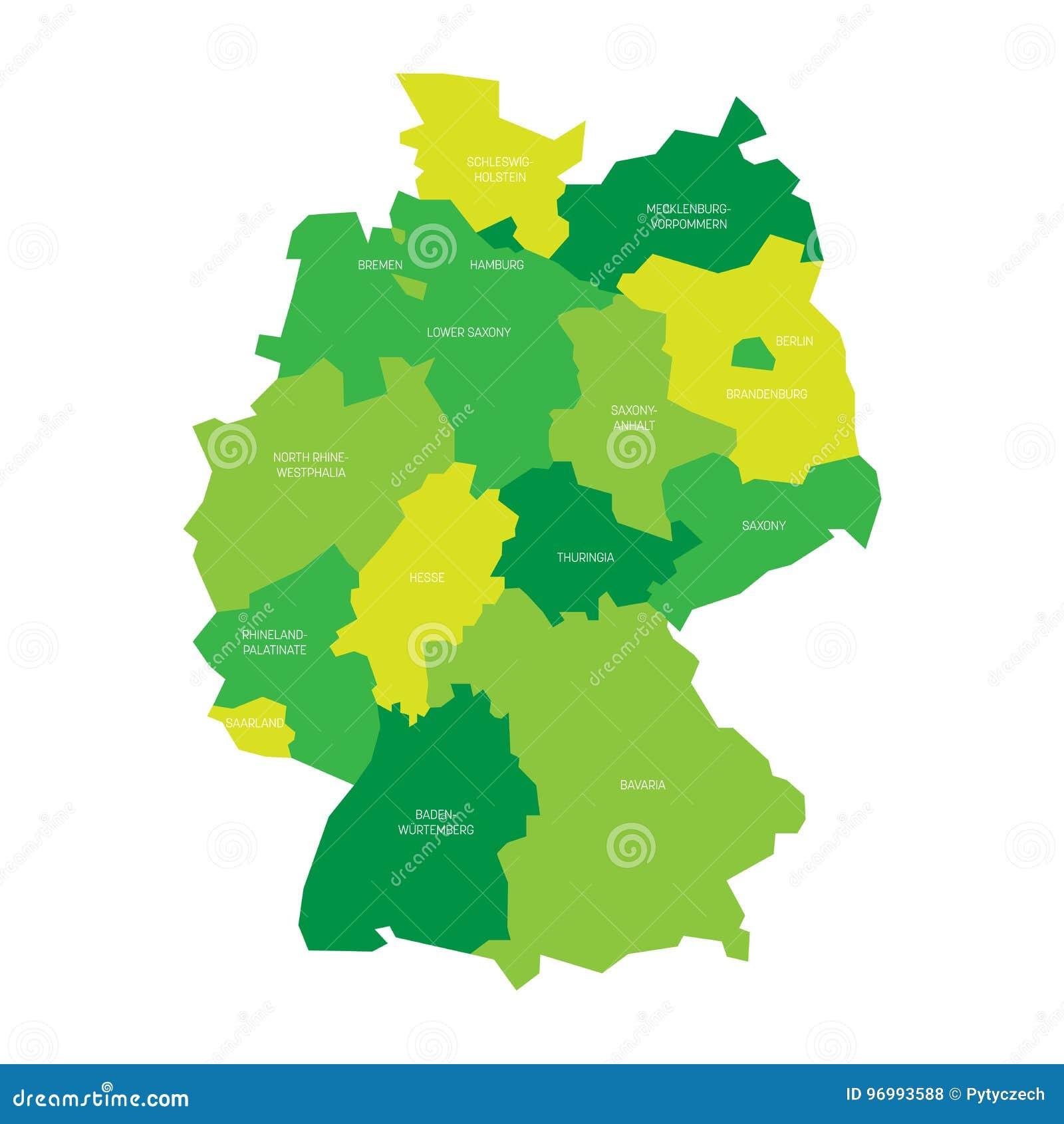 Carte Allemagne Divisee.La Carte De L Allemagne S Est Divisee A 13 Etats Federaux Et