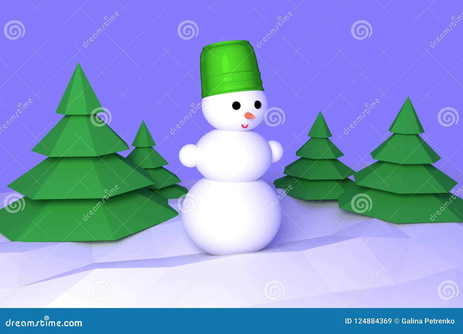 La Carte De Voeux De Bonne Année Pour Le Bonhomme De Neige