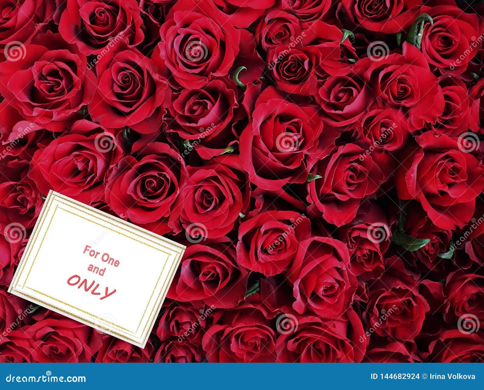 La Carte De Voeux Chic De Bouquet De Roses Rouges Pour Des