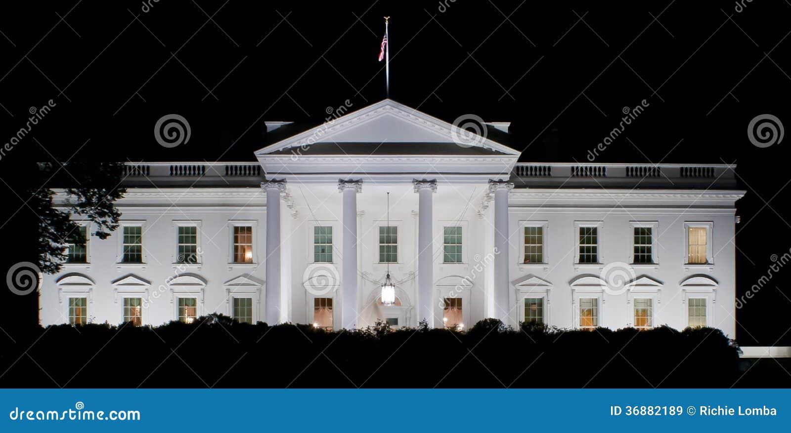 Download La Casa Bianca immagine stock. Immagine di americano - 36882189