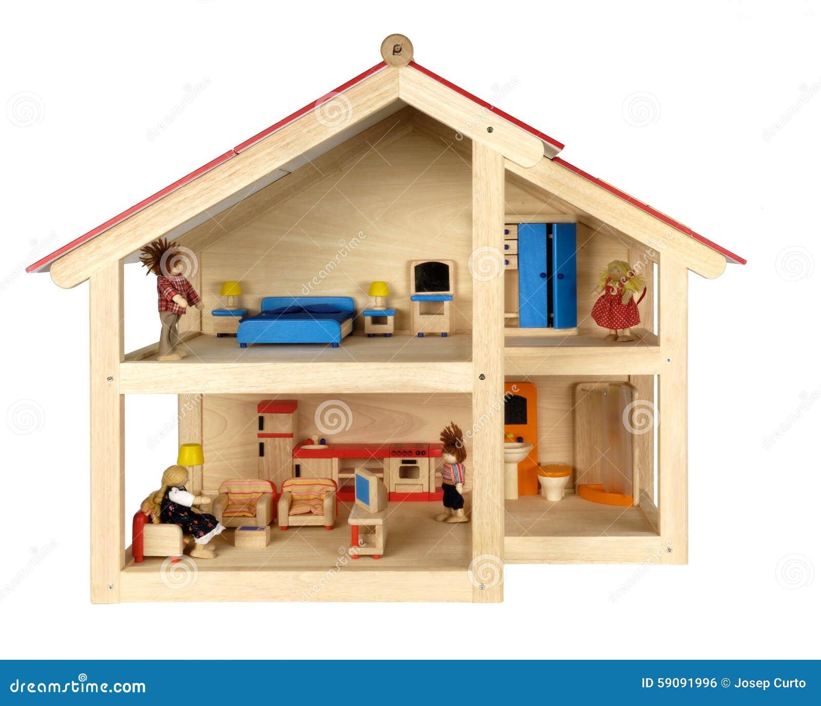 La Casa De Mu Ecas Del Ni O Con Muebles Foto De Archivo Imagen  # Muebles Sasamon