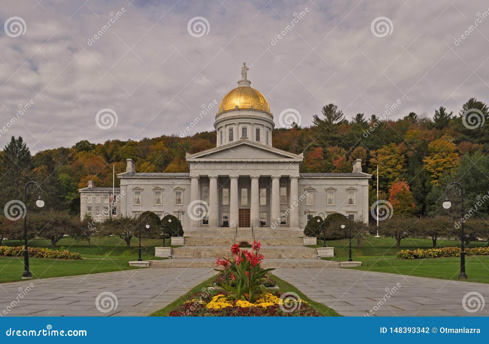 La casa del estado de Vermont en Montpelier, Vermont, los E.E.U.U.