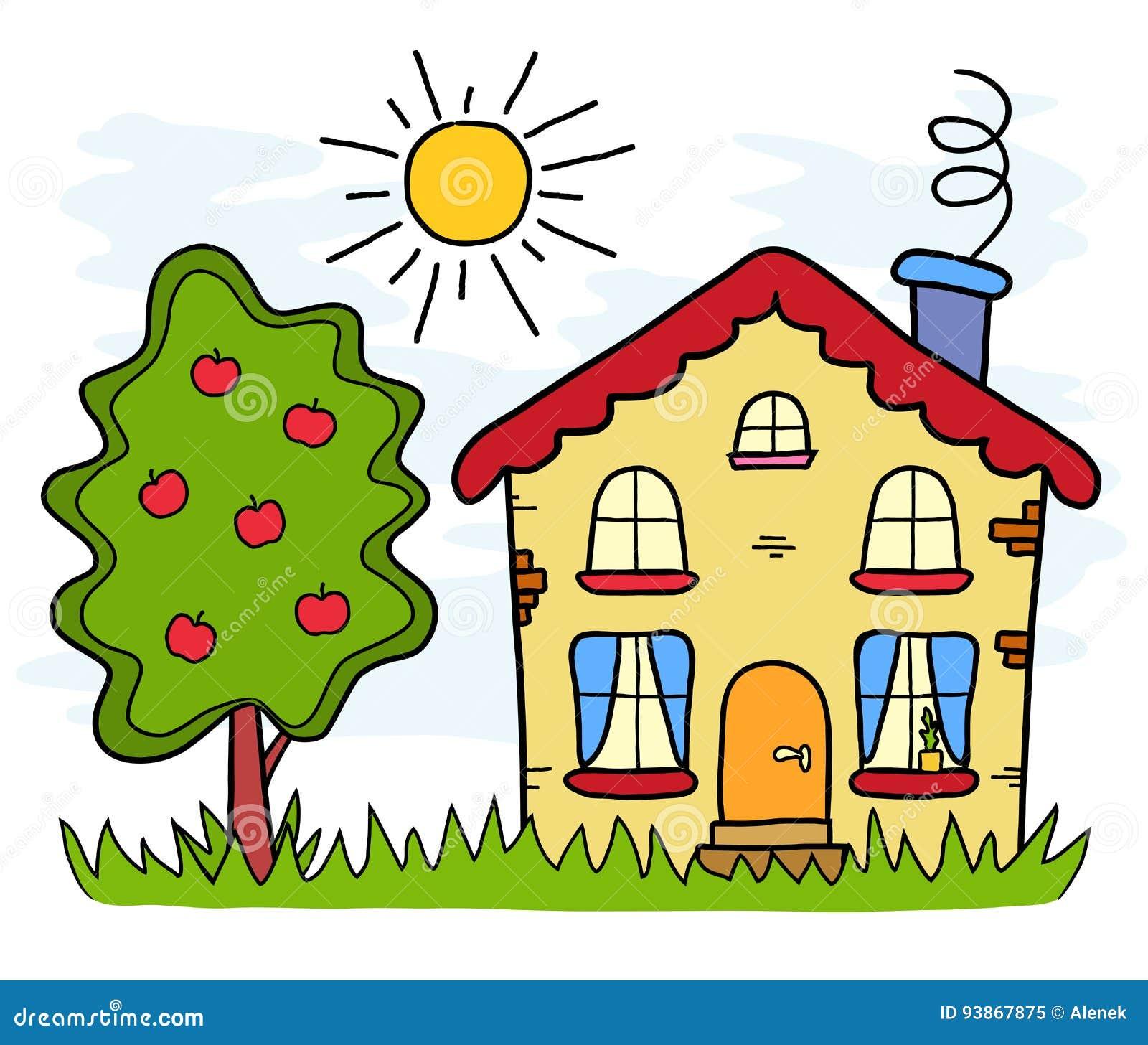 La casa di campagna fatta a mano di estate del disegno for Casa disegno