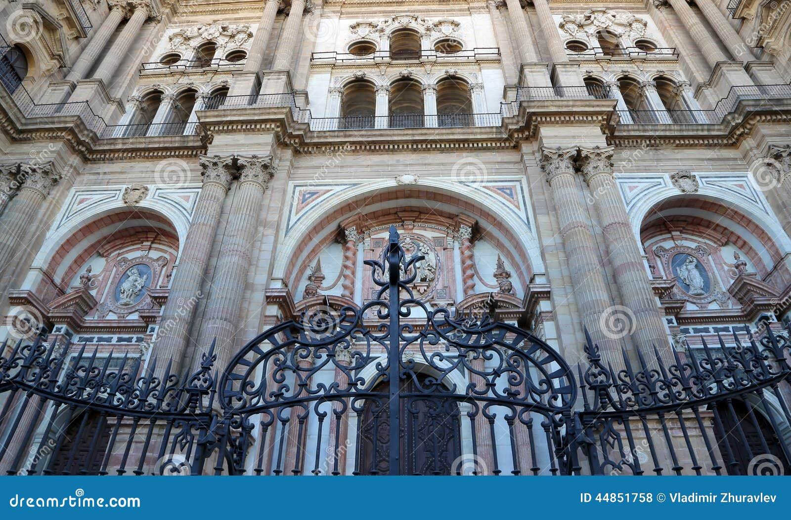 La catedral de Málaga es una iglesia del renacimiento en la ciudad de Málaga, Andalucía, España meridional