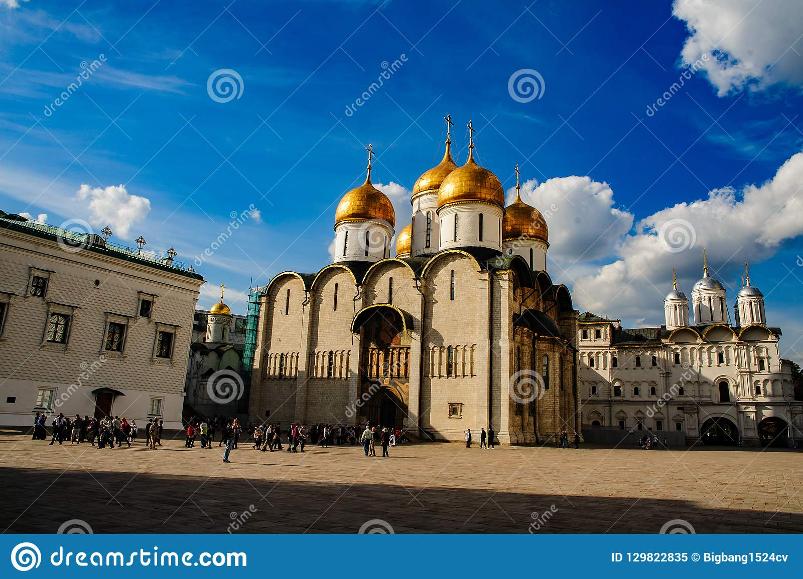 La catedral de Uspensky en el Kremlin, Moscú