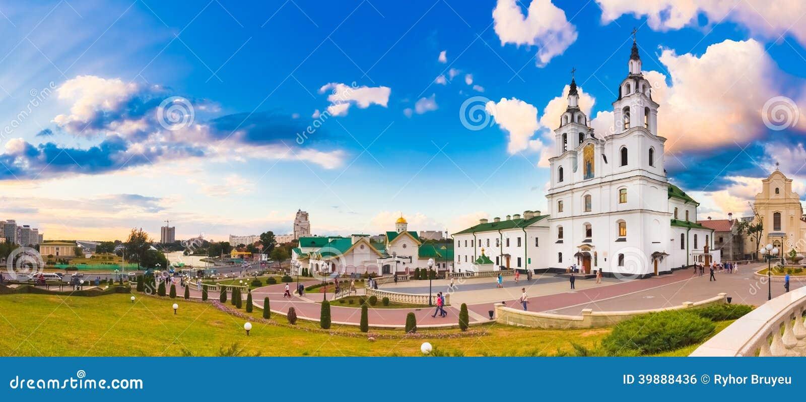La catedral del Espíritu Santo en Minsk, Bielorrusia