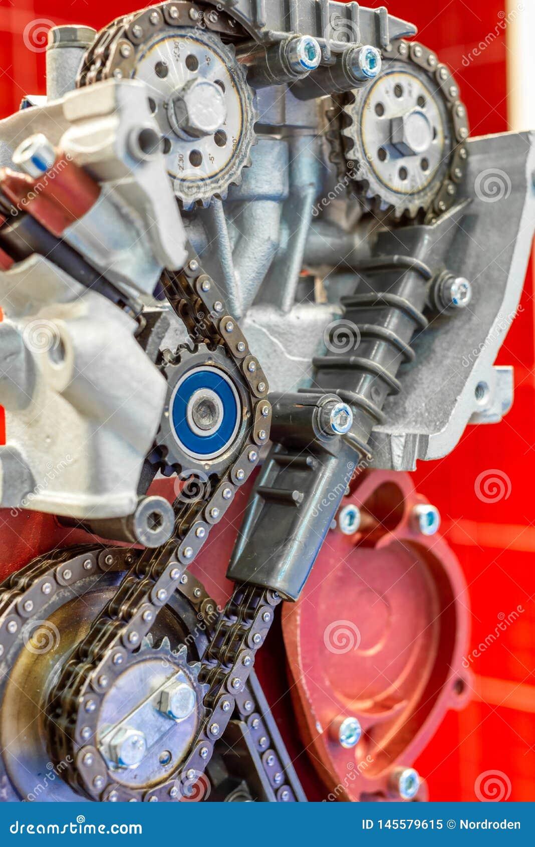 La catena di sincronizzazione dell azionamento del motore a combustione interna