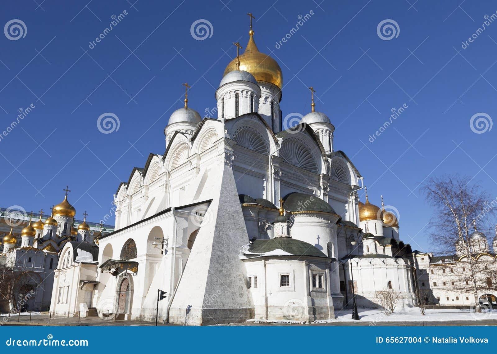 La cathédrale d Arkhangel de Moscou Kremlin un jour ensoleillé d hiver,