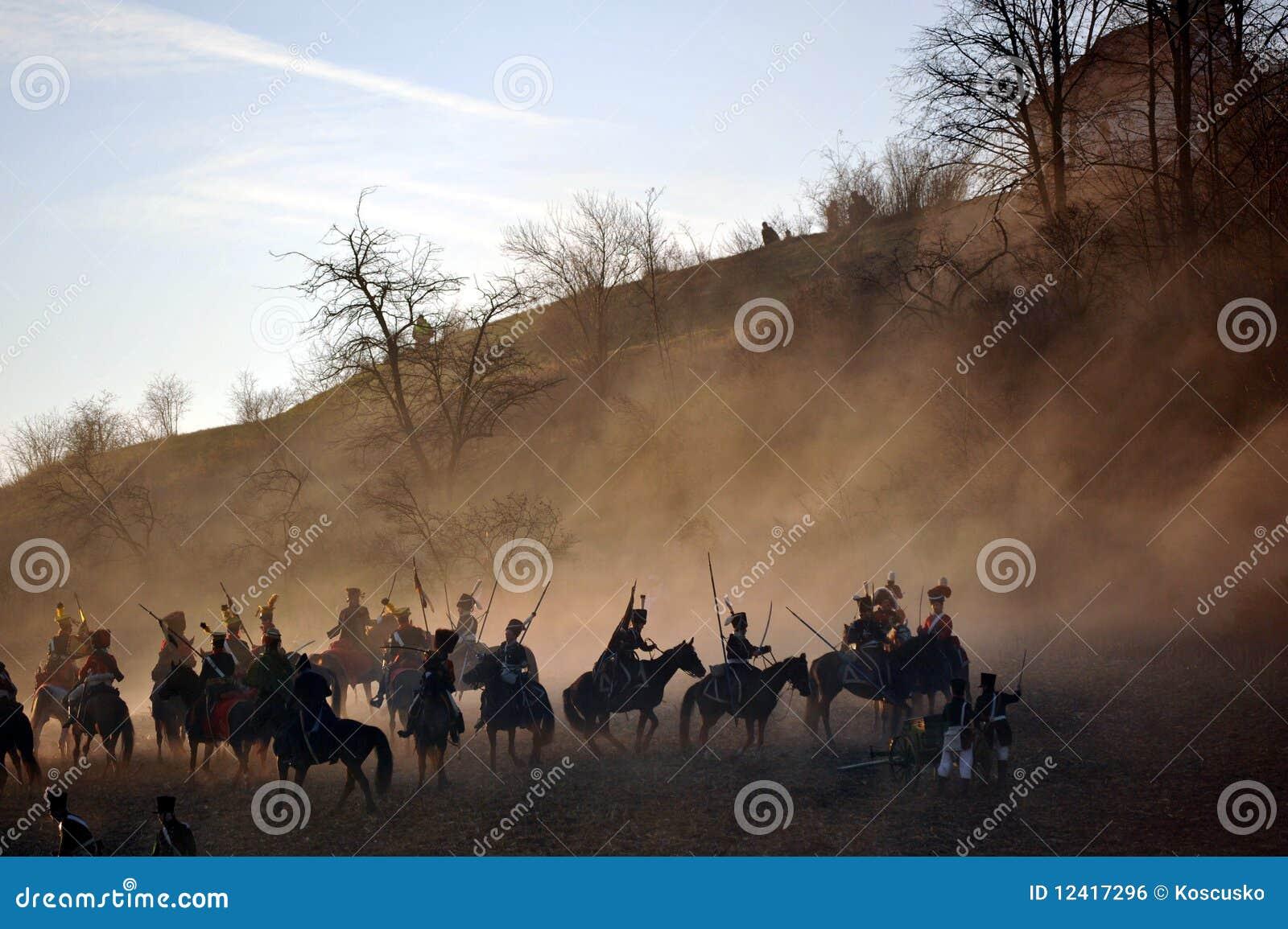 La cavalleria combatte