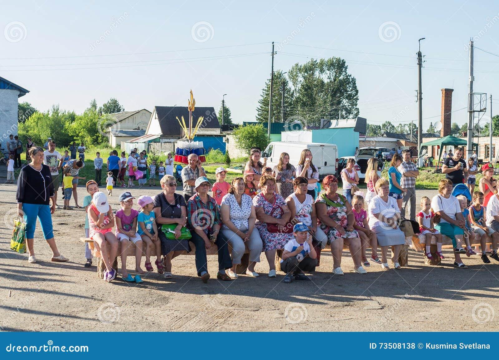 La celebración del día de la juventud en la región de Kaluga en Rusia el 27 de junio de 2016