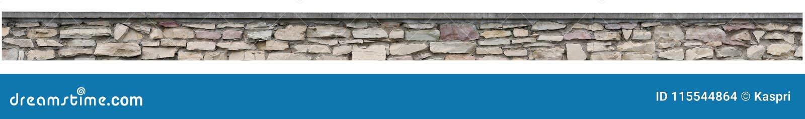 La cerca de piedra, pared de la roca del jardín, viejo panorama aislado de la pila del ladrillo, panorámico practica obstruccioni