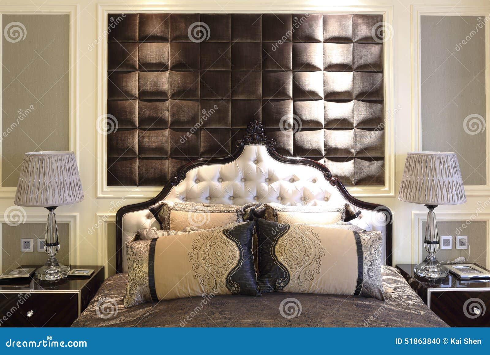 La Chambre à Coucher Dans La Salle Modèle De L\'appartement ...