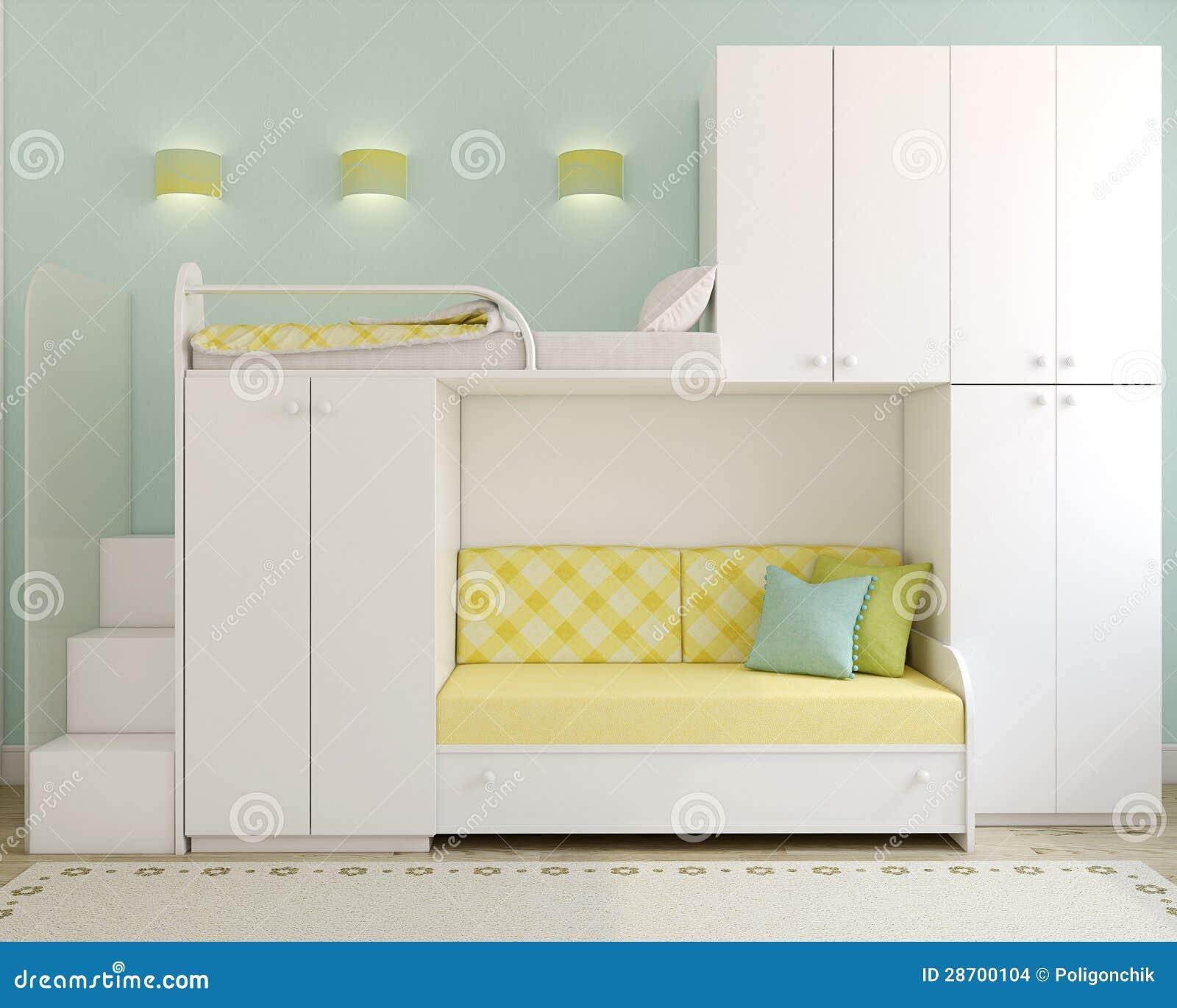 La chambre coucher des enfants images stock image - Chambre a coucher enfant ...