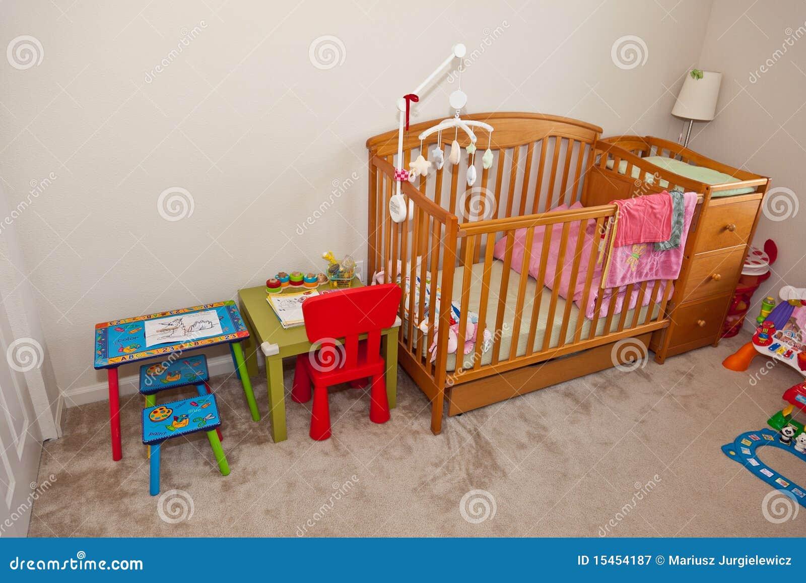 La chambre à coucher de l'enfant photographie stock libre de ...