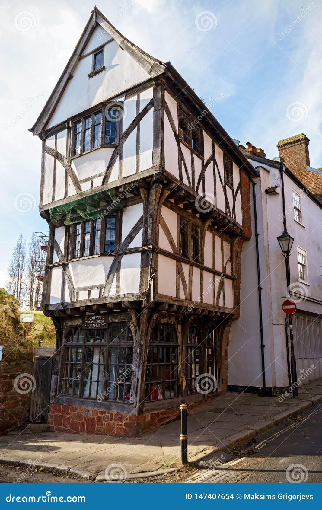 La Chambre tordue à Exeter, Devon, Royaume-Uni, le 28 décembre 2017