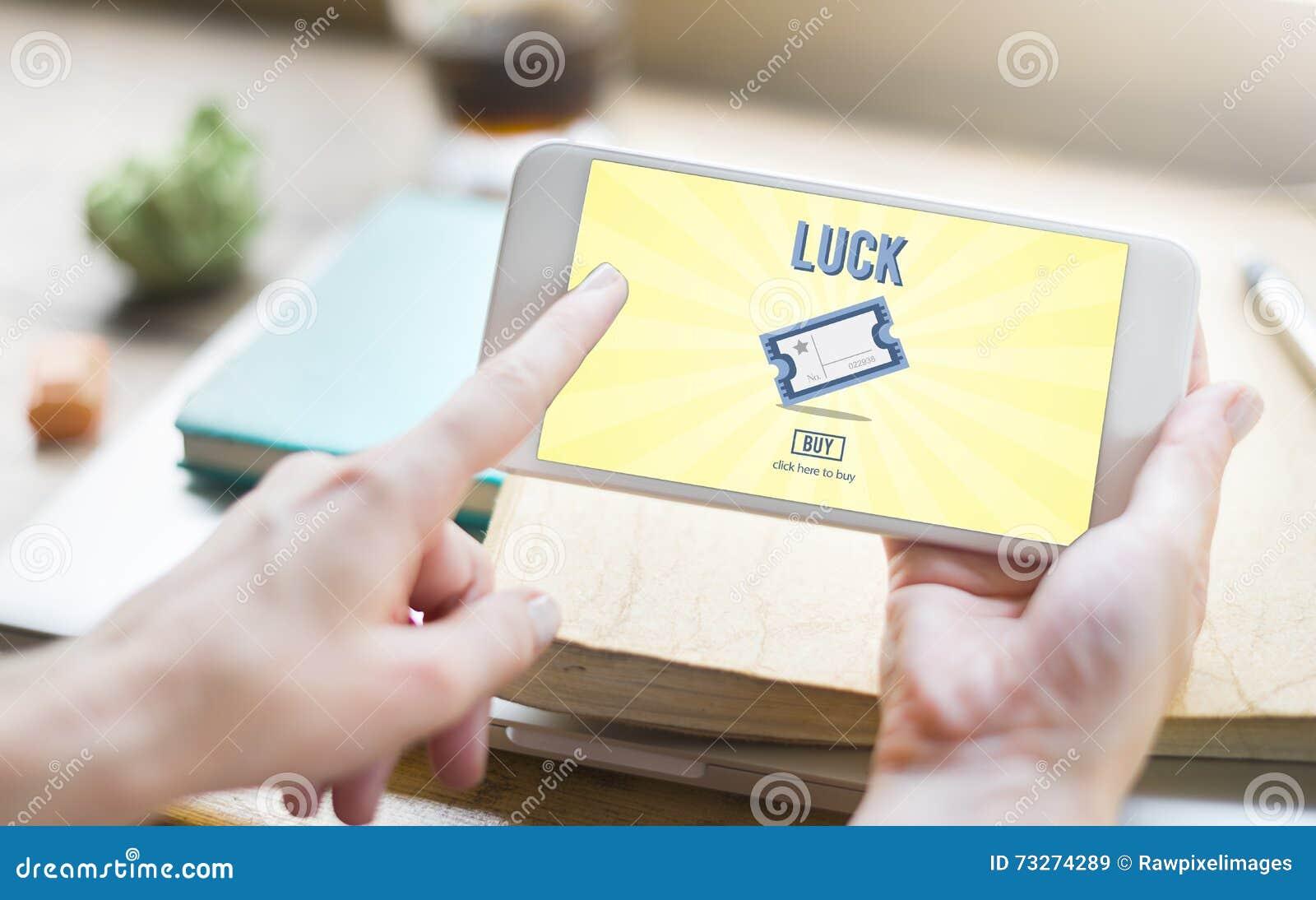 La chance de jeu de gros lot entrent pour gagner le concept de billet de loto