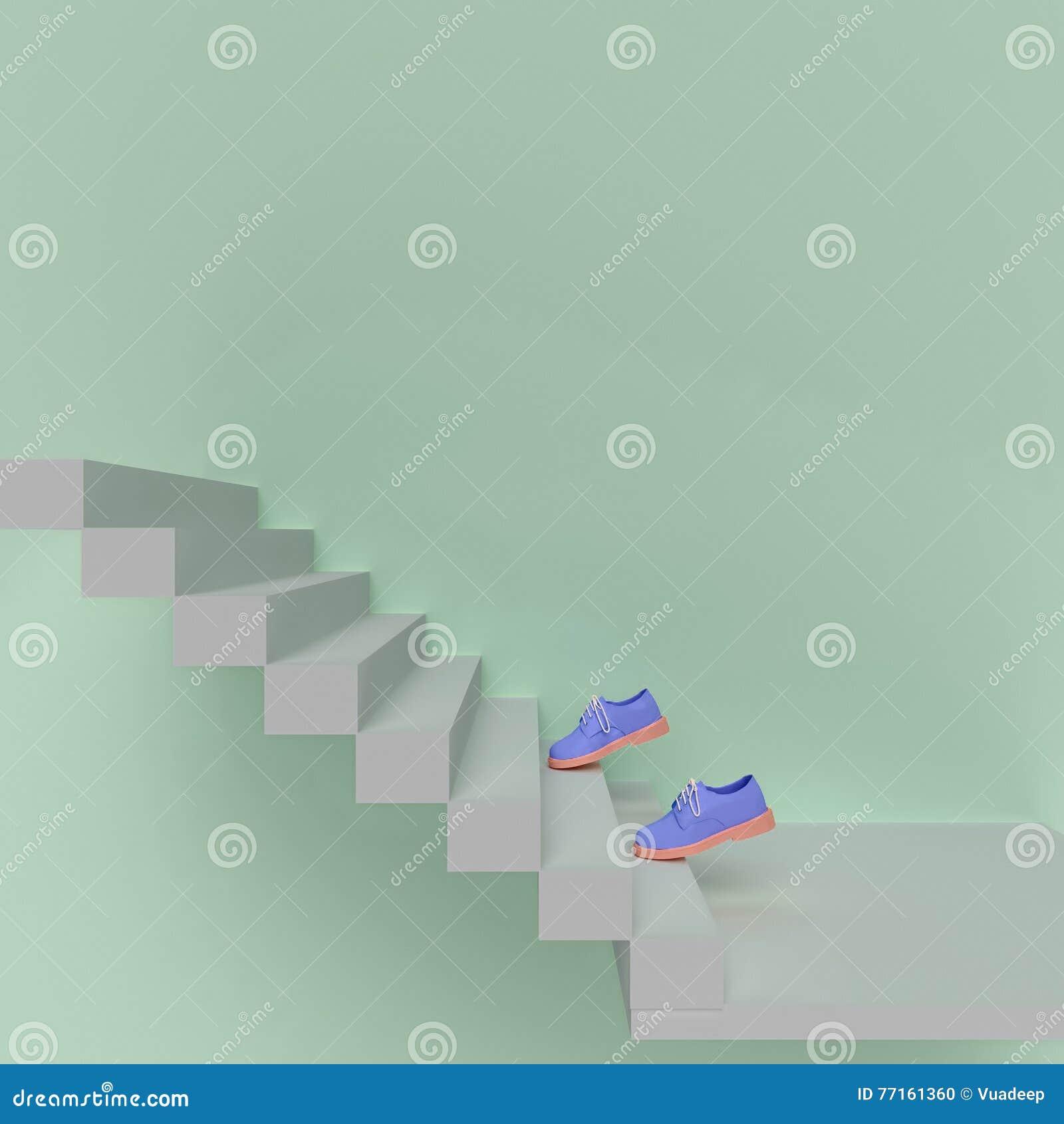 La chaussure montent les escaliers