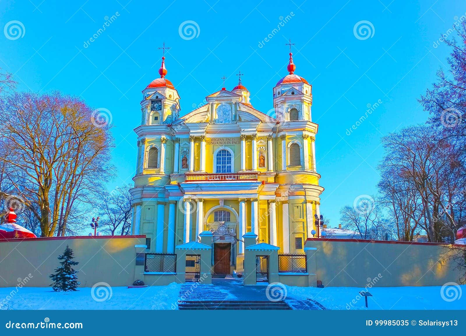 La chiesa della st Peter e della st Paul a Vilnius - capitale della Lituania
