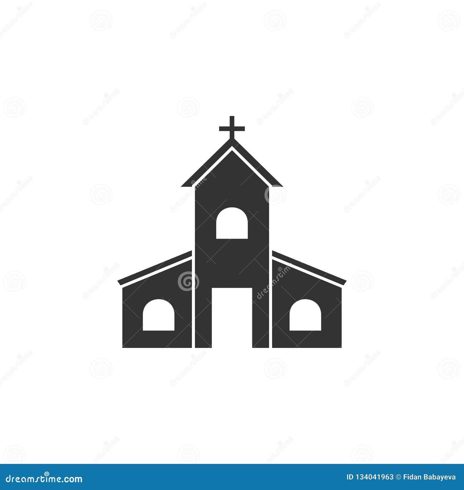 La chiesa, icona di pasqua può essere usata per il web, logo, app mobile, UI, UX