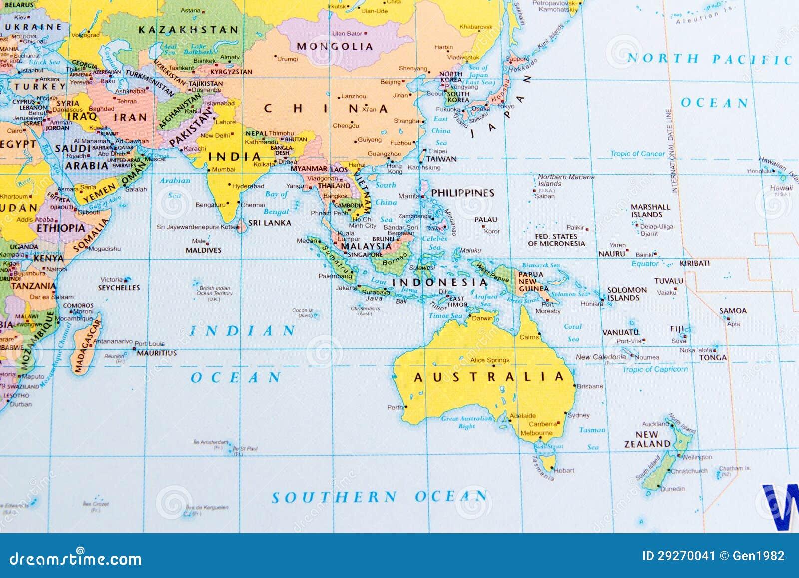 Carte Australie Chine.La Chine Et L Australie Image Stock Image Du Course 29270041