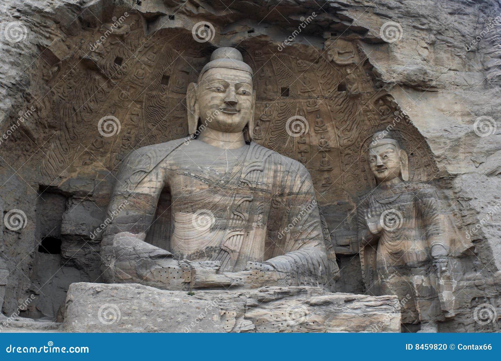 La Chine/Shanxi : Découpage en pierre des grottes de Yungang