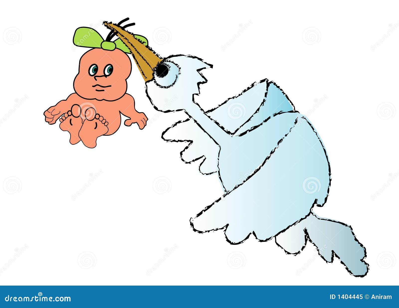La cigogne amène la chéri