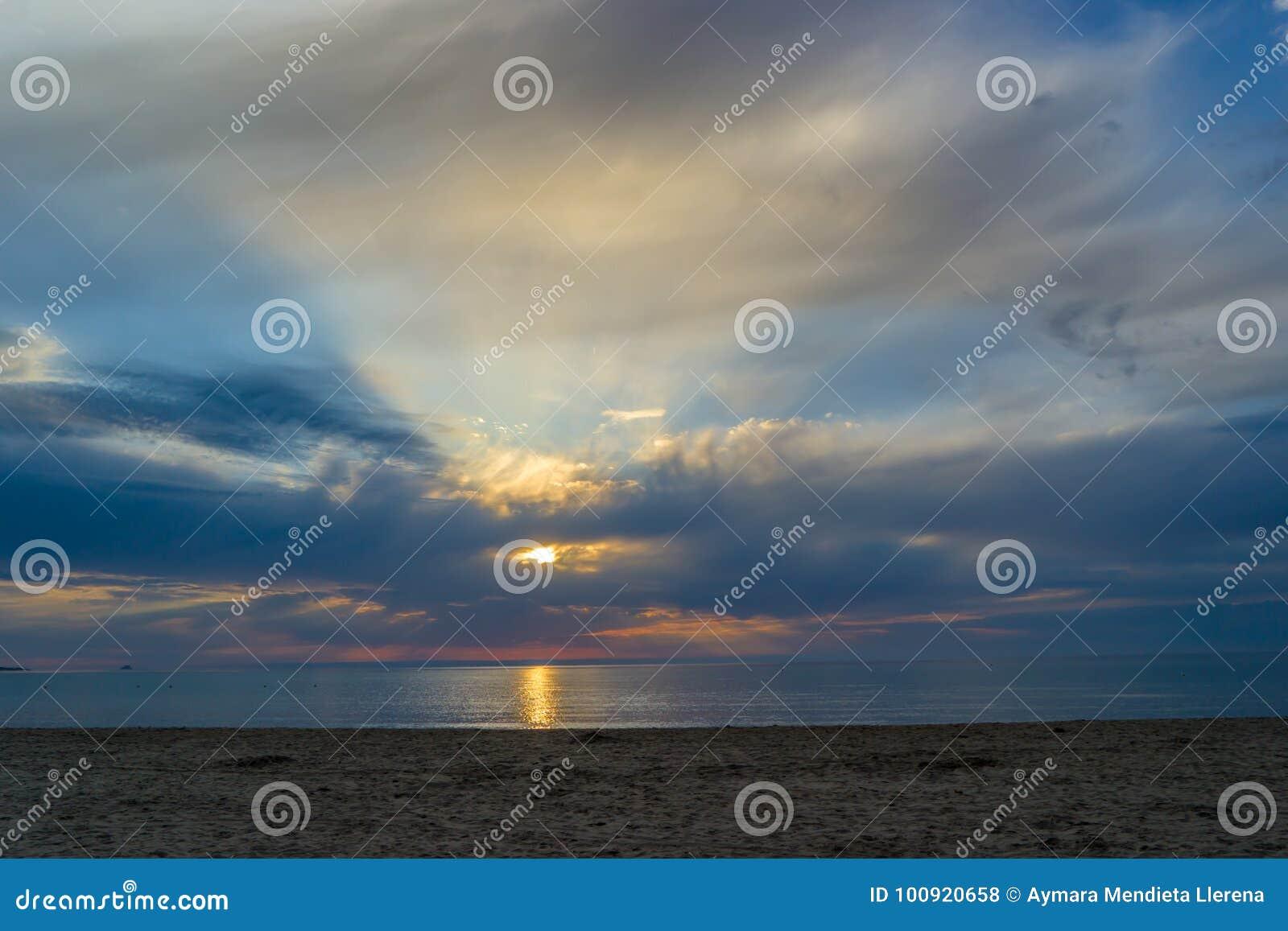La Cinta Beach, Divine dawn, San Teodoro, Sardinia, Italy.