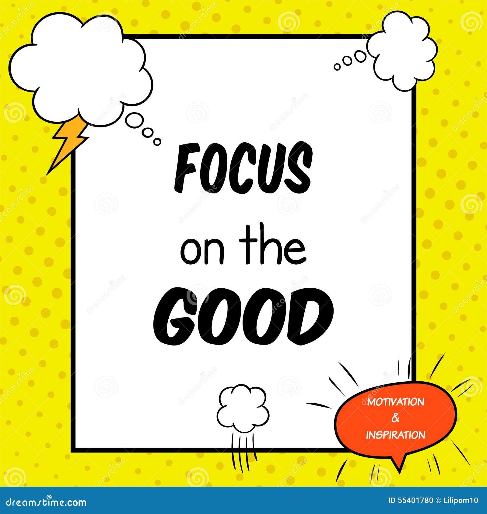 La citation inspirée et de motivation est dessinée dans un style comique