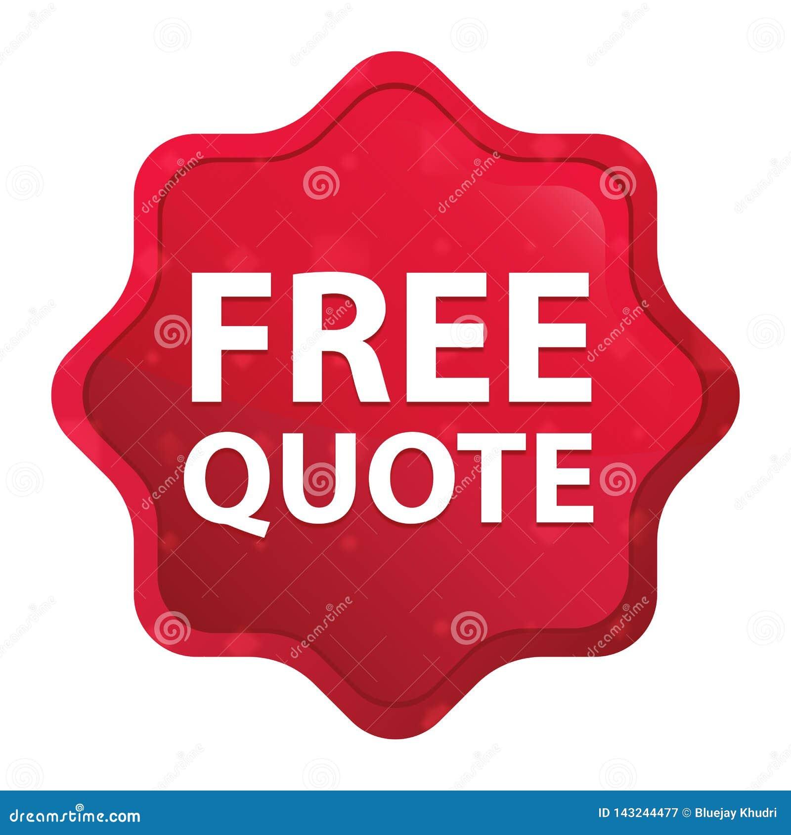 La citation libre brumeuse a monté bouton rouge d autocollant de starburst