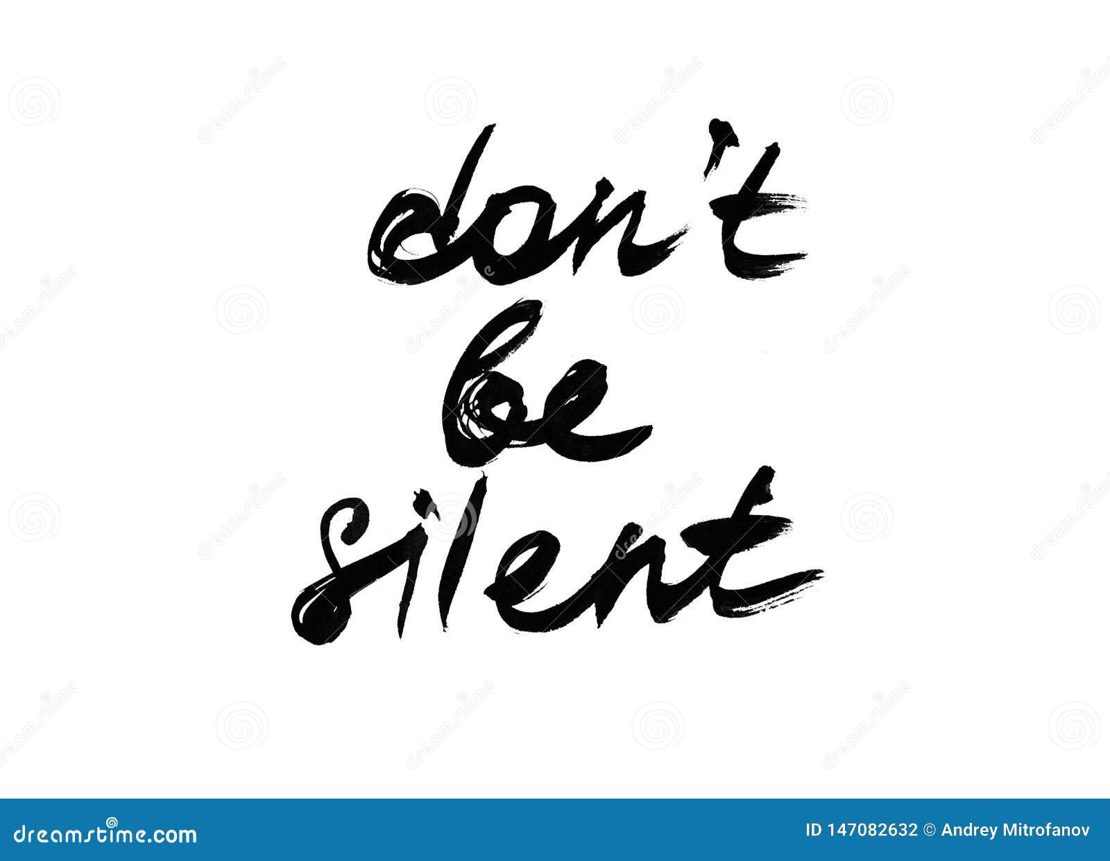 La citation ne sont pas silencieuse