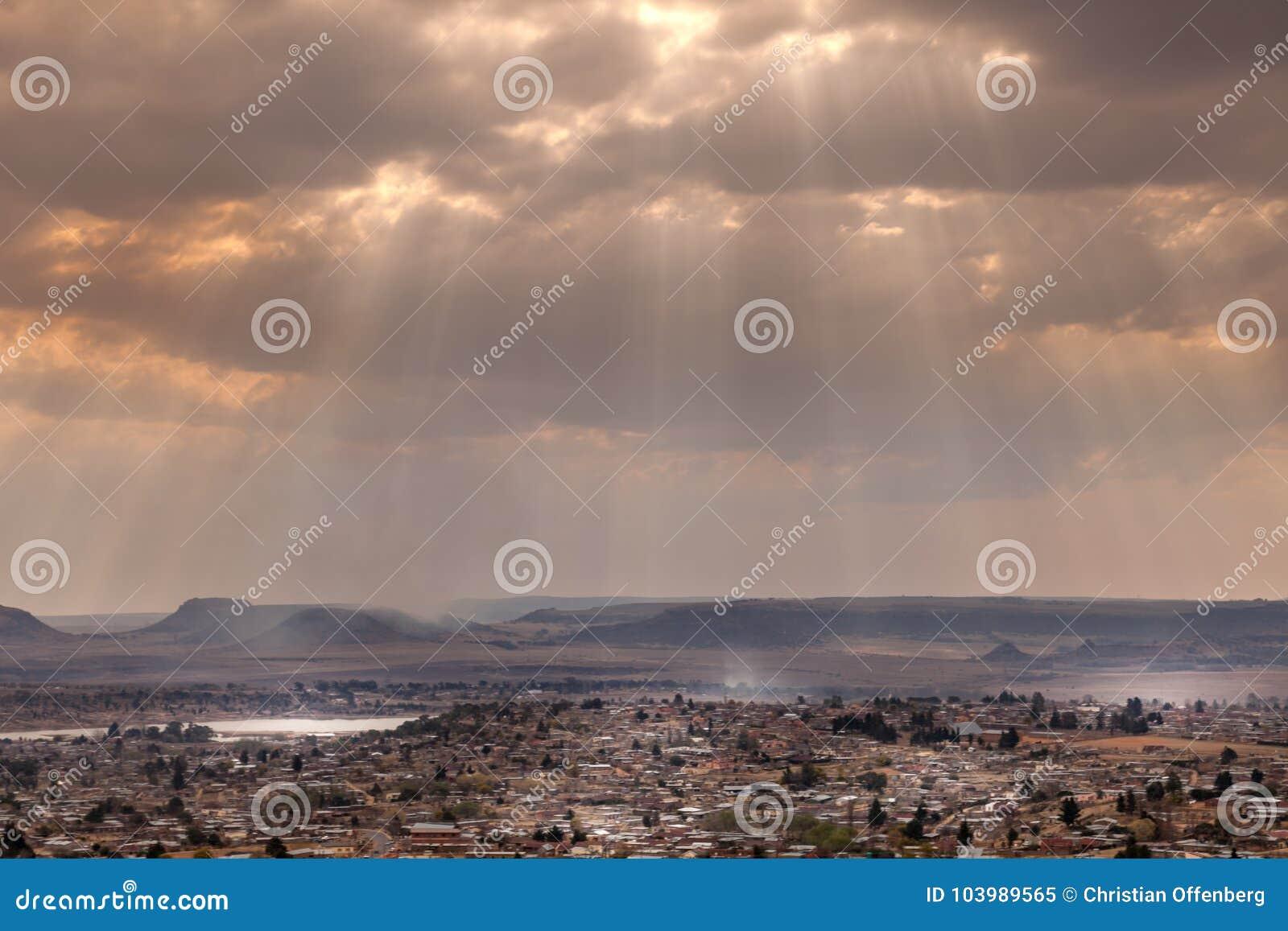 La città di Maseru, Lesotho
