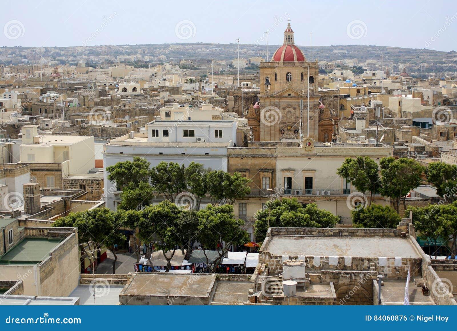 La ciudad de Victoria en Gozo